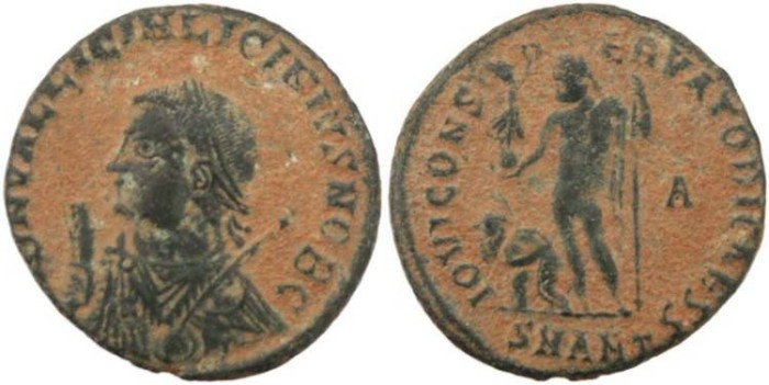 Ancient Coins - Licinius II - IOVI CONSERVATORI CAESS -Antioch Mint