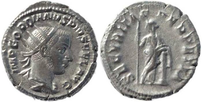 Ancient Coins - Gordian III 238-244AD silver antoninianus - SECVRITAS PERPETVA