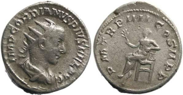 Ancient Coins - Gordian III 238-244AD Antoninianus - Apollo seated 5.5 grams!