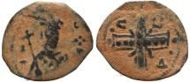 Ancient Coins - Byzantine coin of Alexius I 1092-1118 AD - AE Tetarteron