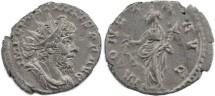 Ancient Coins - Postumus silvered antoninianus - MONETA AVG