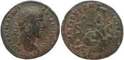 Ancient Coins - Elagabalus AE 32 - Antioch - City Goddess