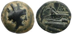 Ancient Coins - Phoenicia, Arados - Circa 3rd century BC - Tyche and Galley