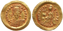 Ancient Coins - Roman coin of Theodosius II AV Solidus -  IMP XXXXII COS XVII PP