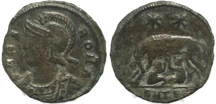Ancient Coins - Urbs Roma City Commemorative - Thessalonica Mint - Romulus & Remus