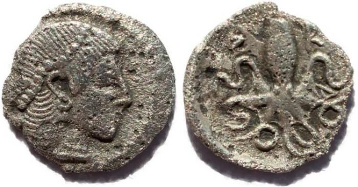 Ancient Coins - Sicily, Syracuse AR Litra ca 466-460 BC