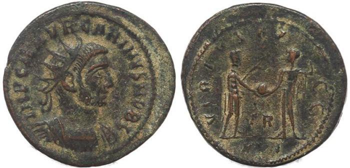 Ancient Coins - Roman coin of Carinus AE Antoninianus - VIRTVS AVGG - Tripolis
