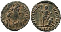 Ancient Coins - Theodosius I - VIRTVS EXERCITI - Antioch Mint