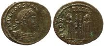 Ancient Coins - Roman coin of Constantius II - GLORIA EXERCITVS - Treveri