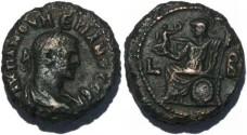 Ancient Coins - Roman Emperor Numerian Potin Tetradrachm