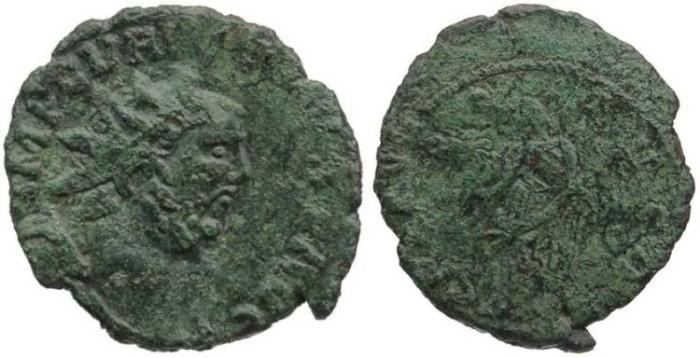Ancient Coins - Interesting Carausius - blundered obverse legend & mistruck reverse legend