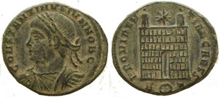 Ancient Coins - Constantine II - PROVIDENTIAE CAESS - Rome Mint