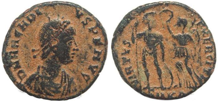 Ancient Coins - Roman coin of Arcadius - VIRTVS EXERCITI - Cyzicus