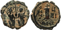 Ancient Coins - Byzantine coin of Justin II and Sophia AE Decanummium - Antioch - Year 7