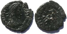 Ancient Coins - Constantius II Siscia Mint, unusual worn die strike