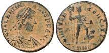 Ancient Coins - Roman coin of Valentinian II Ae2 - VIRTVS EXERCITI - Nicomedia