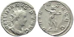 Ancient Coins - Valerian I AR silver antoninianus - ORIENS AVGG