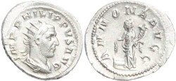 Ancient Coins - Philip I silver antoninianus - ANNONA AVGG - Rome Mint