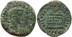 Ancient Coins - Roman coin of Tiberius AE28 of Italica, Spain