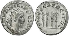Ancient Coins - Philip I 'the Arab' silver antoninianus - FIDES EXERCITVS