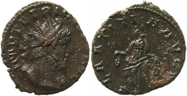 Ancient Coins - Tetricus I Antoninianus - LAETITIA AVG N