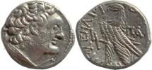 Ancient Coins - Ptolemy X Silver Tetradrachm - Year K (20) = 97 BC