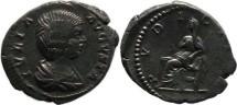 Ancient Coins - Julia Domna AR denarius - Wife Of Septimius Severus - PVDICITIA