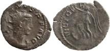 Ancient Coins - Gallienus Billon Antoninianus - Gaul mint - VICT GERMANICA