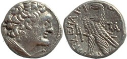 Ancient Coins - Ptolemy X Silver Tetradrachm - Year K (20) = 97 BC