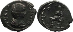 Ancient Coins - Julia Domna AR denarius - Wife Of Septimius Severus - PVDICITIA