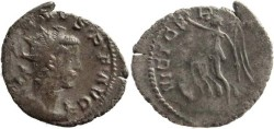 Ancient Coins - Gallienus Billon Antoninianus - Gaul mint - VICT GERMANICA