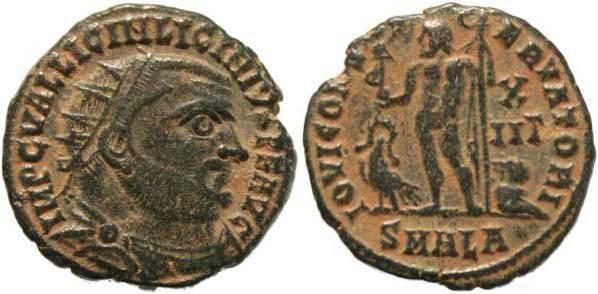 Ancient Coins - Licinius I AE Post Reform Radiate, AD 321-324, ALEXANDRIA