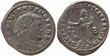 Ancient Coins - Roman coin of Galerius large silvered follis - SACRA MONET AVGG ET CAESS NOSTR - Siscia