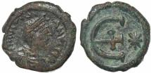 Ancient Coins - Byzantine coin of Justinian I Ae pentanummium - Antioch mint - Sear 244