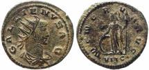 Ancient Coins - Roman coin of Gallienus Antoninianus - MINERVA AVG - Antioch