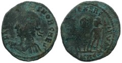 Ancient Coins - Roman coin of Constans - Strike failure
