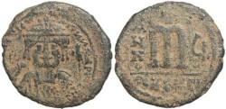 Ancient Coins - Byzantine Empire Maurice Tiberius - AE follis - Antioch