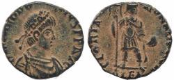 Ancient Coins - Roman coin of Theodosius I Ae2 - GLORIA ROMANORVM - Alexandria, Egypt