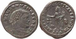 Ancient Coins - Roman coin of Galerius large silvered follis - SACRA MONET AVGG ET CAESS NOSTR - Siscia