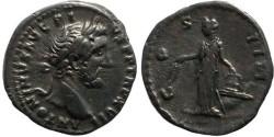 Ancient Coins - Antoninus Pius AR Denarius - COS IIII - RIC 231, RSC 291, BMC 809
