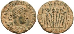 Ancient Coins - Constantine II 337-340AD Antioch mint