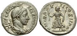 Ancient Coins - Roman coin of Severus Alexander AR silver denarius - P M TR P V-II COS II P P - Rome