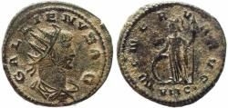 Ancient Coins - Roman coin of Gallienus Antoninianus - MINERVA AVG - Antioch