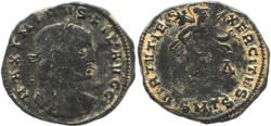 Ancient Coins - Roman coin of Maximinus II as Filius Augustorum - VIRTVTI E XERCITVS - Thessalonica