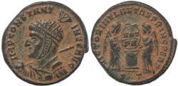 Ancient Coins - Roman coin of Constantine I - VICTORIAE LAETAE PRINC PERP - Ticinum