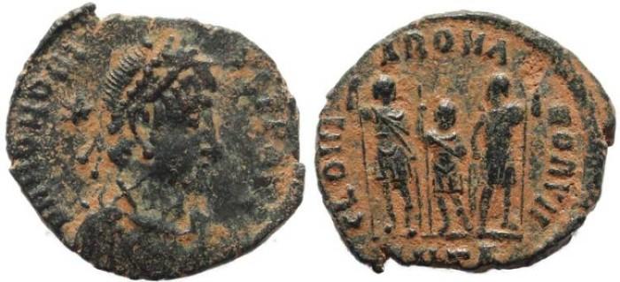 Ancient Coins - Honorius - GLORIA ROMANORVM - Antioch