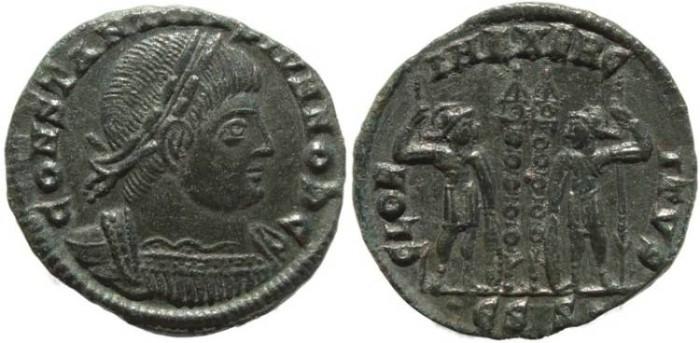 Ancient Coins - Roman coin of Constantine II - GLORIA EXERCITVS - Siscia