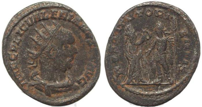 Ancient Coins - Roman coin of Valerian - silver antoninianus - RESTITVT ORIENTIS