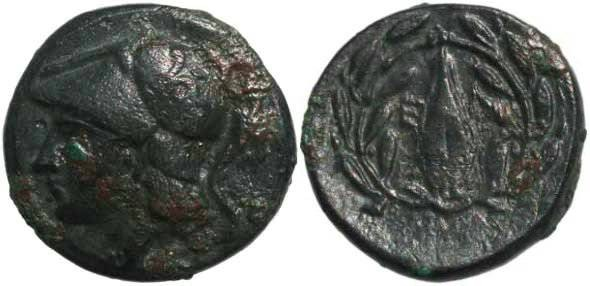 Ancient Coins - Autonomous coinage of Elaia, Aeolis 350-300 BC