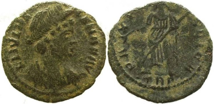Ancient Coins - Helena - Mother of Constantine I AE Follis - Treveri Mint